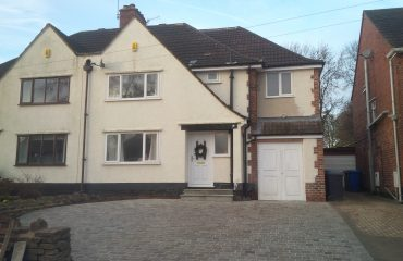 Two storey extension by Chesterfield builders