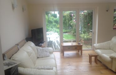 Single storey extension by builders in Chesterfield