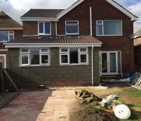 2 storey extension by builders in Chesterfield