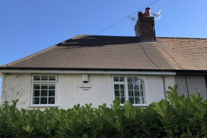 New roof by builders in Chesterfield